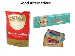 good alternatives to spaghetti noodles for gluten free living